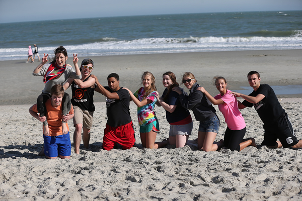Byrnes Scholars compete during the Super Weekend 2013 Byrnes Beach Olympics.